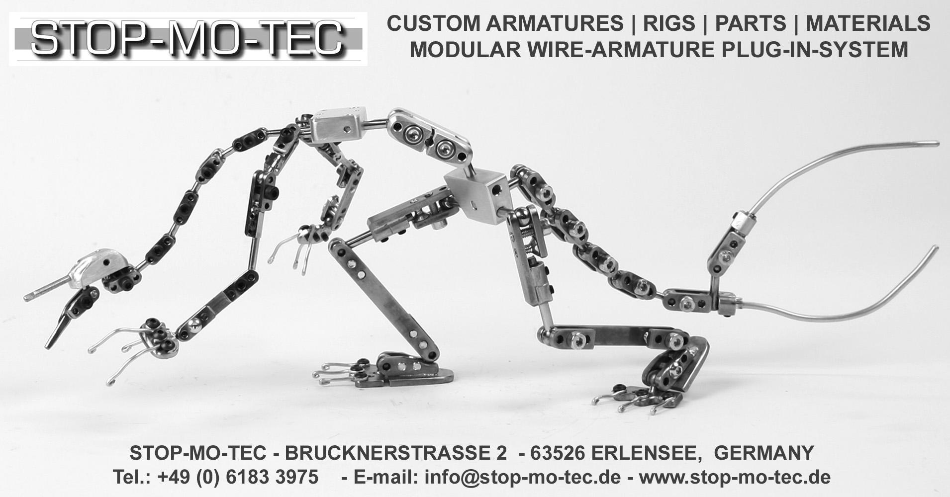 STOP-MO-TEC Stop-Motion-Shop Armature Kits, Stop-Motion Rigs